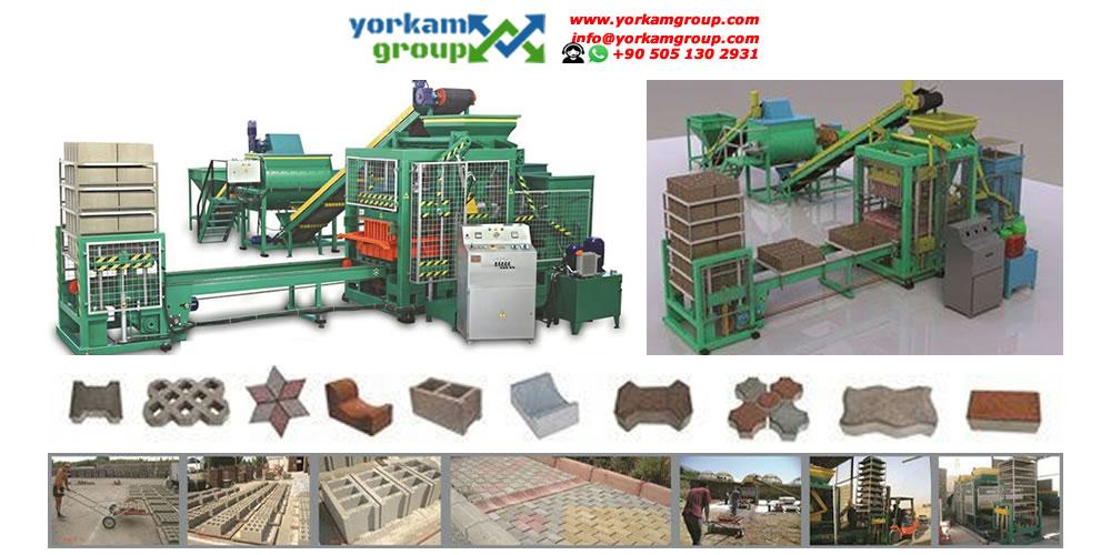Hollow block machine for sale   +90 505 130 2931 (WhatsApp)